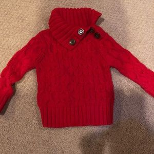 Girls red sweater 18-24 months